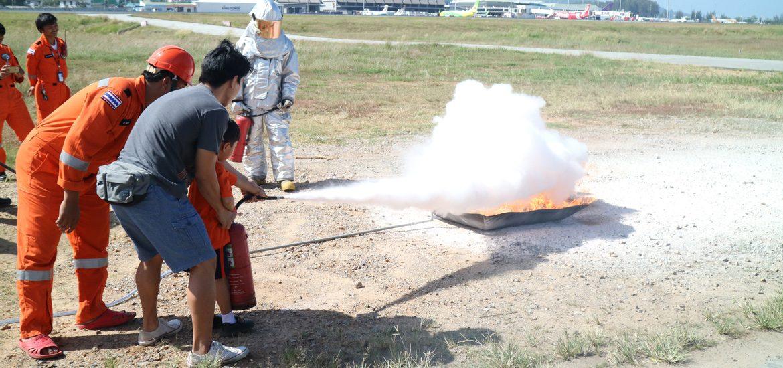 ท่าอากาศยานภูเก็ต ฝ่ายดับเพลิงฯ ต้อนรับคณะ จาก รร.กาละพัฒน์